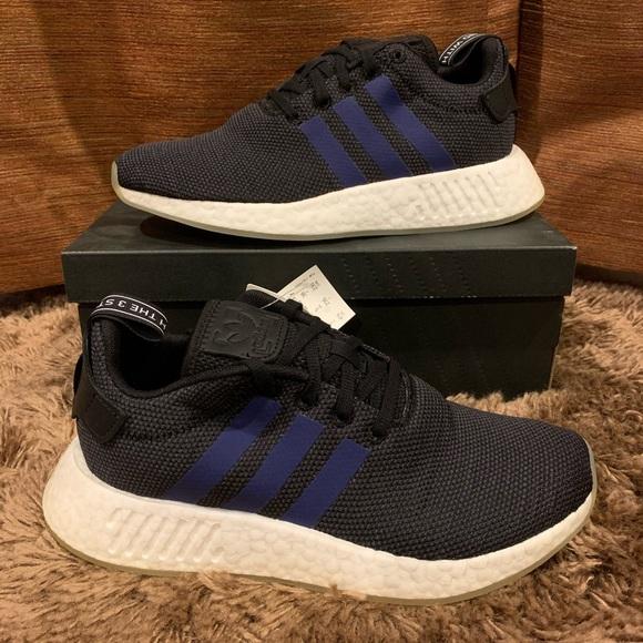 Adidas Originals Womens NMD R2 Black/Noble Indigo
